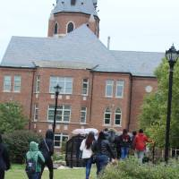 Students toured Saint Louis University